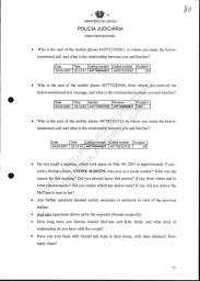 P.J. POLICE FILES: ROGATORY LETTERS OF REQUEST & RESPONSES