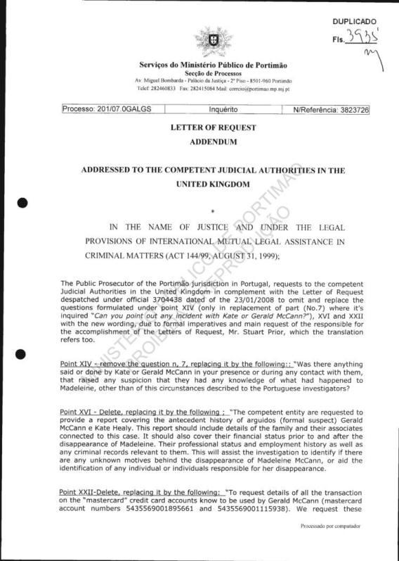 Pj police files rogatory letters of request responses altavistaventures Choice Image