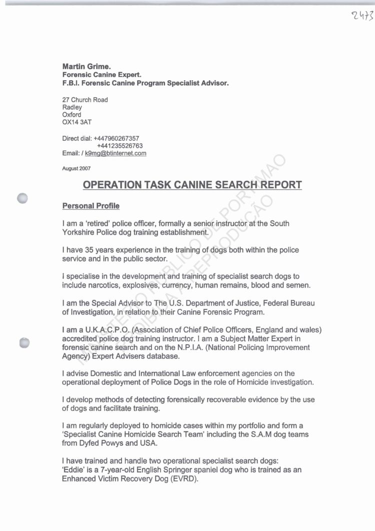 PJ POLICE FILES EDDIE KEELA MARTIN GRIME REPORT – Sample Homicide Police Report