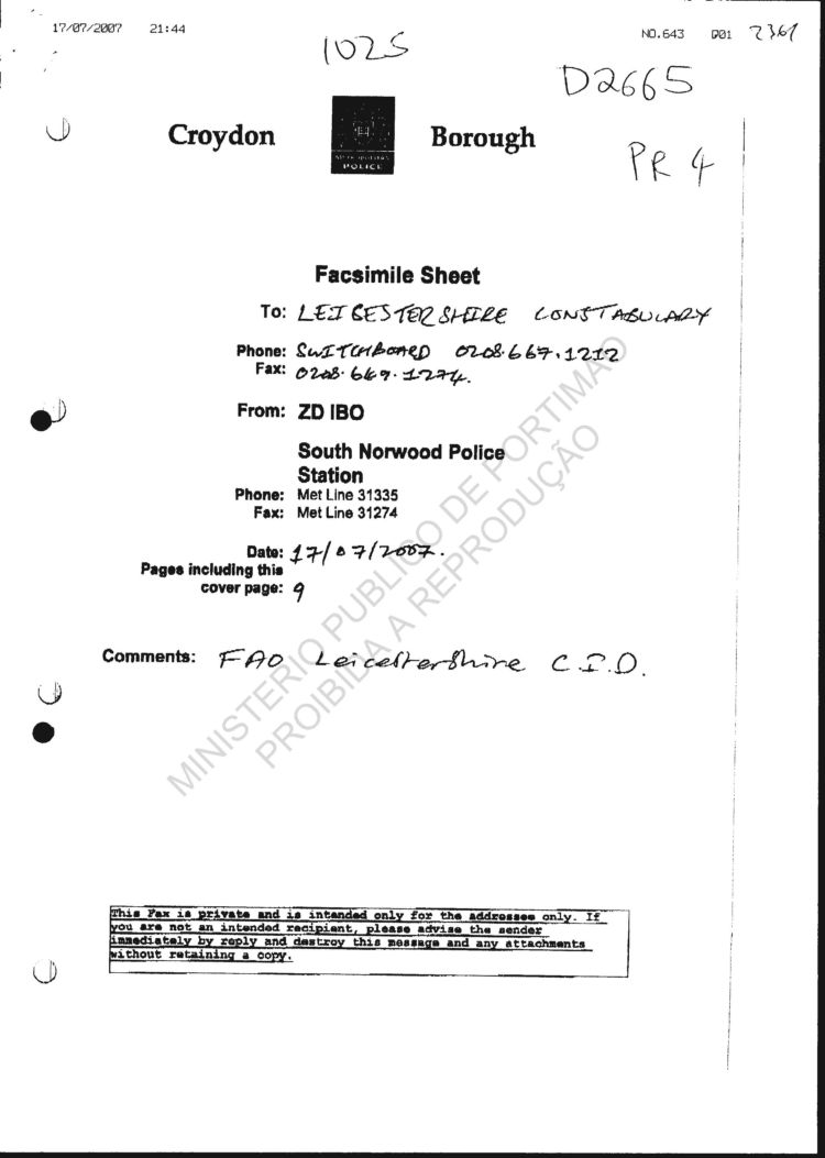 p j police files assorted alleged sightings from apensos 05 apenso5 vol 11 p2361